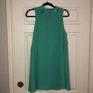 Green shift dress